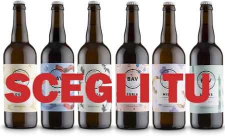 6 birre artigianali BAV a tua scelta 75cl
